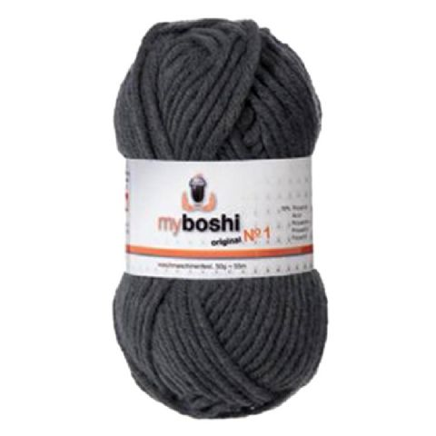 Anthracite Grey 195 - Wool Balls 50g For DMC Myboshi Beanie Hats